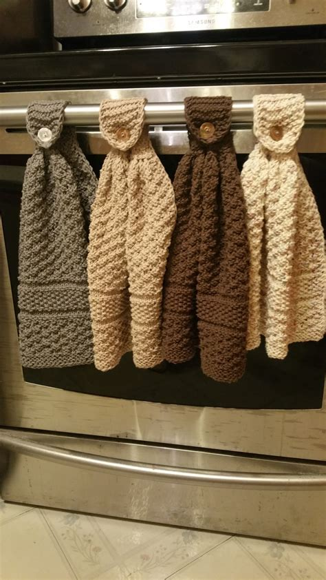 Hanging Kitchen Towels by Knitted Hanging Kitchen Towels Knitting Project By Dixie S