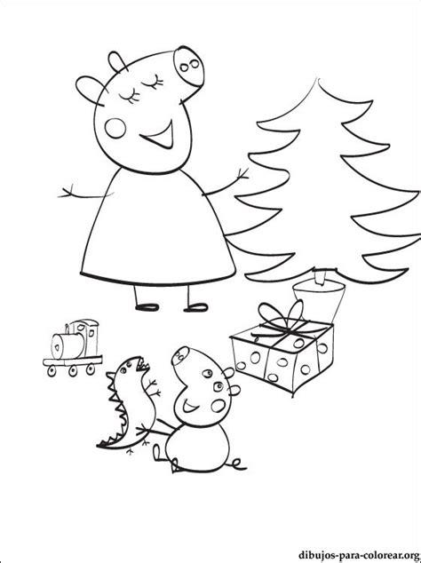 dibujos de navidad para colorear de peppa pig dibujo de peppa navidad para colorear dibujos para colorear