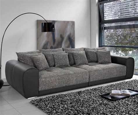 big sofa valeska  schwarz strukturstoff  kissen