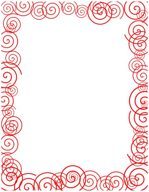 free clip borders free borders and clip downloadable free spiral borders