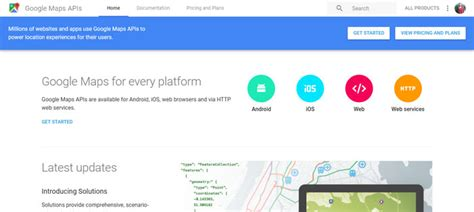 maps api usage maps apis to use in your projects