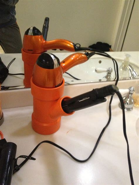 Diy Dryer And Flat Iron Holder it hair dryer and curling iron or straightener