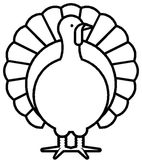 Free Printable Turkey Template turkey coloring pages for coloring pages for