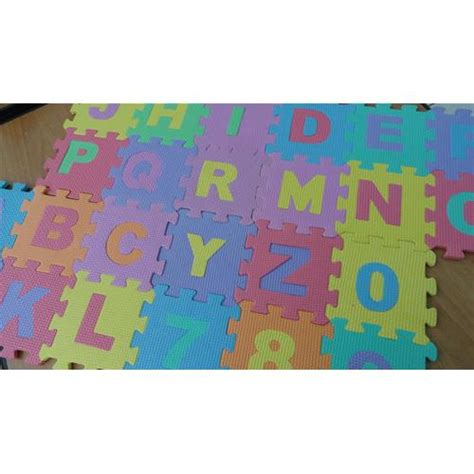tappeto gomma puzzle tappetino puzzle tappeto gomma set 36 pezzi cm 14 x14 x 0