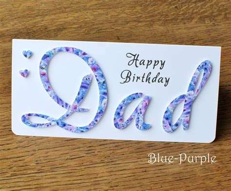 Handmade Cards For Dads Birthday - handmade birthday card personalised happy