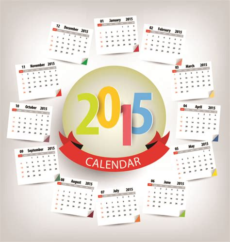 lien doodle calendar calendar 2015 annulus vector 02 trang th 244 ng tin giải tr 237