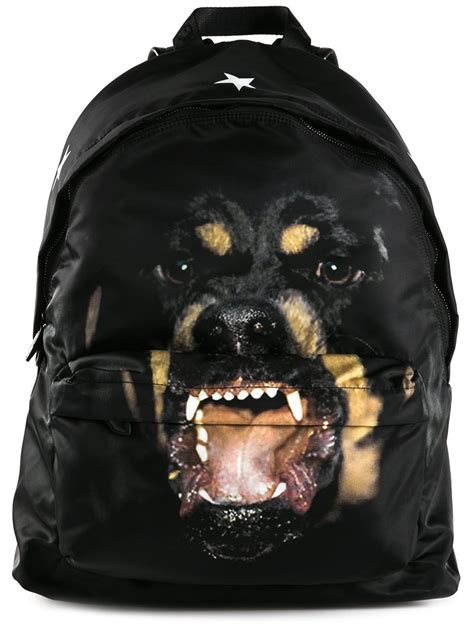 givenchy rottweiler givenchy rottweiler print backpack in black for lyst