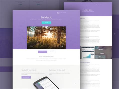 Web App Template Free by Builder Free Web App Template Freebiesbug