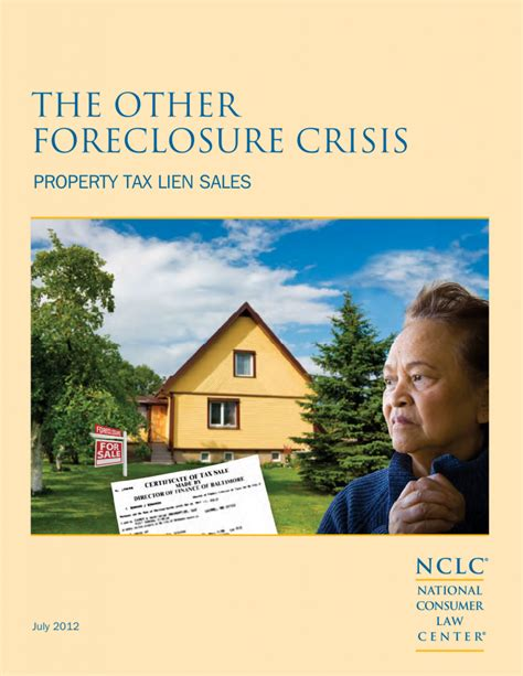 the other foreclosure crisis property tax lien sales