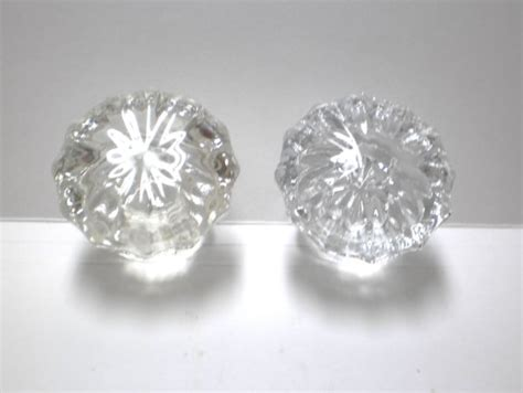 Glass Door Knobs Pressed Glass Fluted Pair By Vintagecarolina Fluted Glass Door Knobs