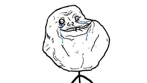 Forever Alone Meme Face - forever alone speaking