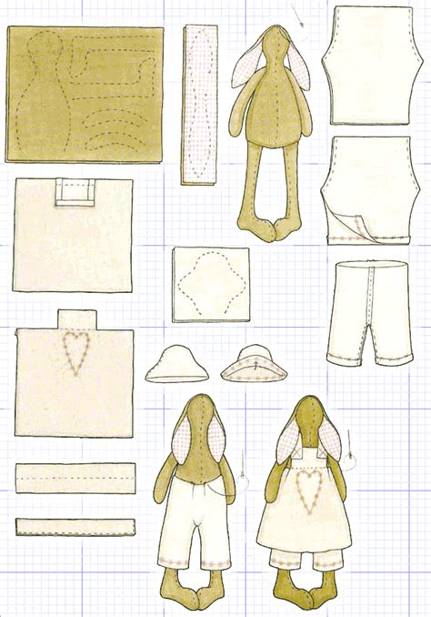 rabbit pattern clothes tilda on pinterest doll patterns dolls and artesanato