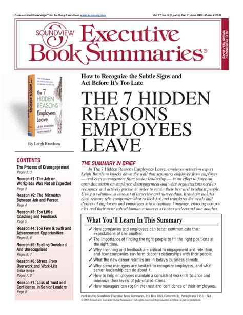7 Reasons To Leave A Bad by 7 Reasons Employees Leave