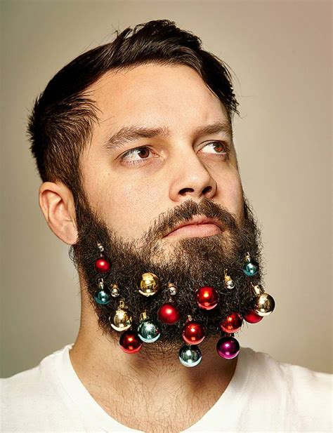 decorate beard for christmas beard baubles decorate your facial hair this christmas