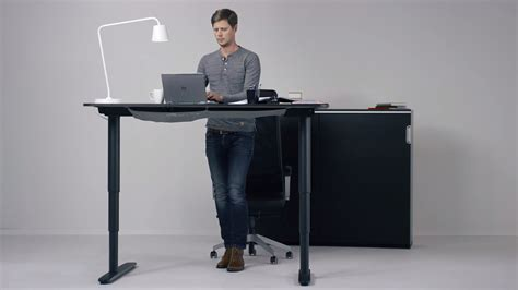 Ikea Hopes Its New Motorized Standing Desk Will Get You Standing Desk Chair Ikea