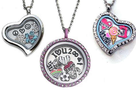 personalized charm locket necklace for