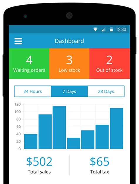 dashboard pattern android exle airsquare mobile manage your store on the go