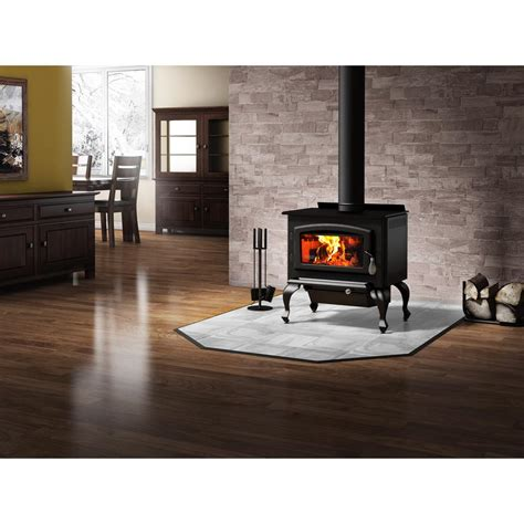 Drolet Columbia 26 In 1600 Sq Ft Epa Certified Wood Wood Burning Stove Fireplace