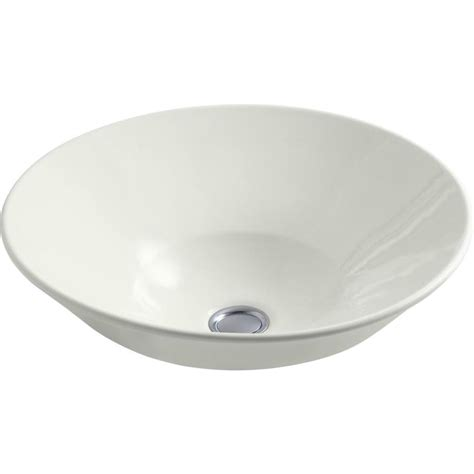 shop kohler conical bell dune vessel round bathroom sink