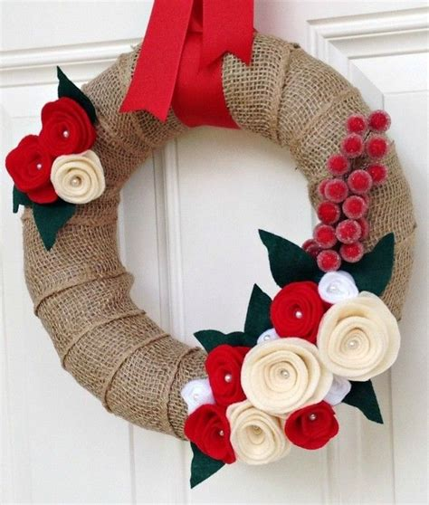 Handmade Door Decorations - diy burlap wreath xmasblor