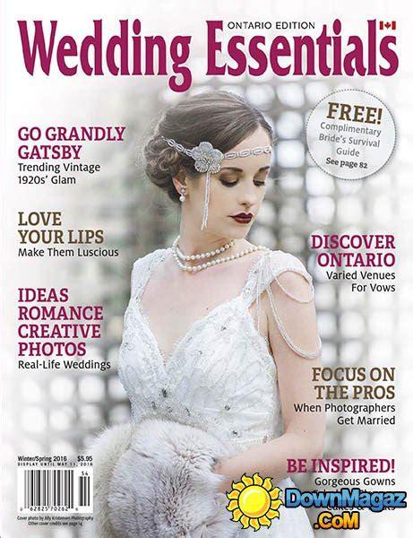 Wedding Magazine Usa by Wedding Essentials Usa Winter 2016 187 Pdf