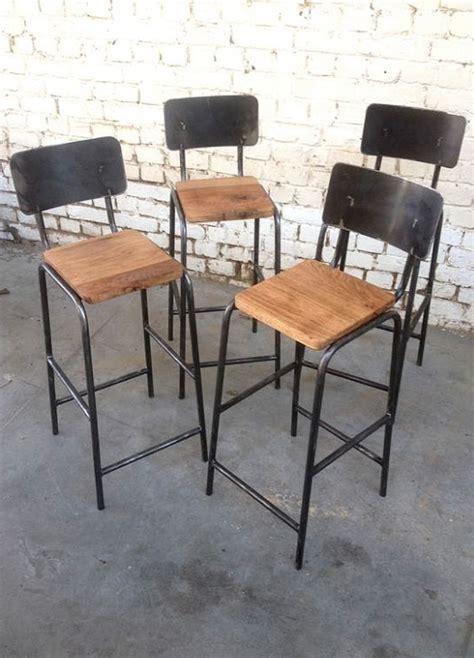 chaise haute industriel chaise shd chh001 giani desmet meubles indus bois m 233 tal