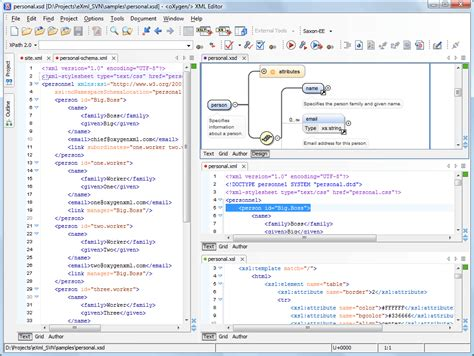 layout xml creator dockable framework oxygen xml editor
