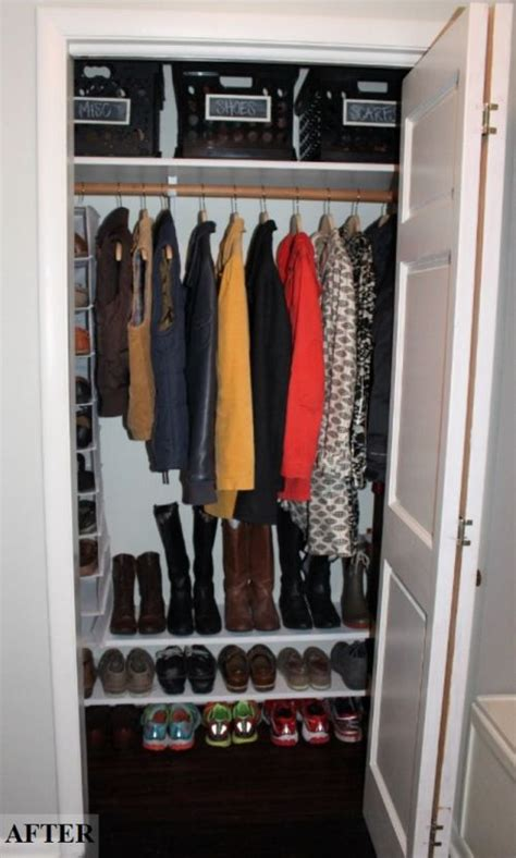 Front Entrance Coat Storage 25 Best Ideas About Coat Closet Organization On
