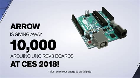 arrow electronics ces  arduino giveaway youtube