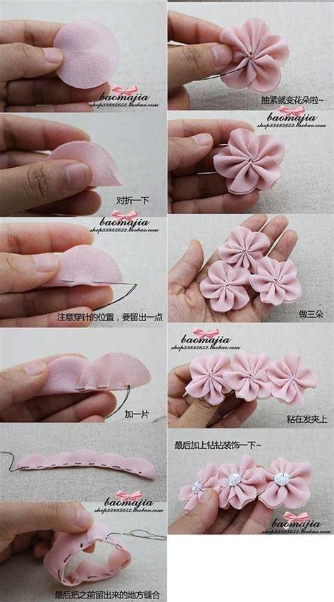 fiori in stoffa fai da te fiori stoffa progetti da provare fiori