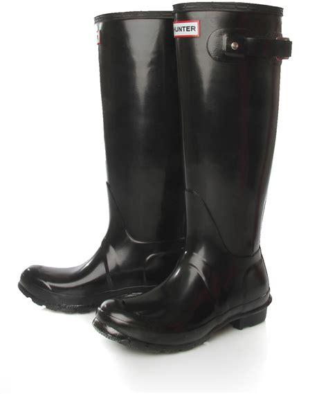 Original Blackmaster Low Boots Wings Black black original gloss low heel wellington boots in black for lyst