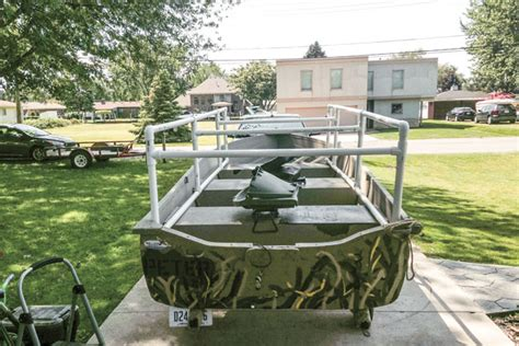 building a duck boat blind on a budget wildfowl - How To Build A Boat Blind Out Of Pvc