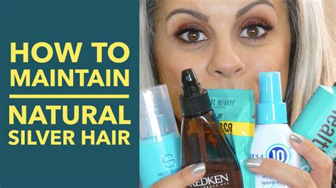 how to bring out grey hair how to maintain natural gray hair silver hair youtube