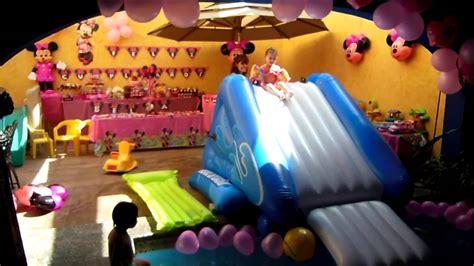Backyard Birthday Party Ideas Minnie Mouse Pool Party Theme Decorations Bella S Birthday