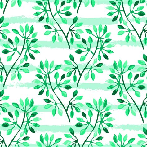 branch name pattern means tree branches with leaves seamless pattern vector 12