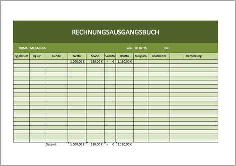 Rechnung Vorlage Xlsx Rechnungsausgangsbuch Als Excelvorlage Excel Vorlagen F 252 R Jeden Zweck