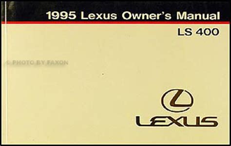free online auto service manuals 1995 lexus ls electronic toll collection 1995 lexus ls 400 features manual original