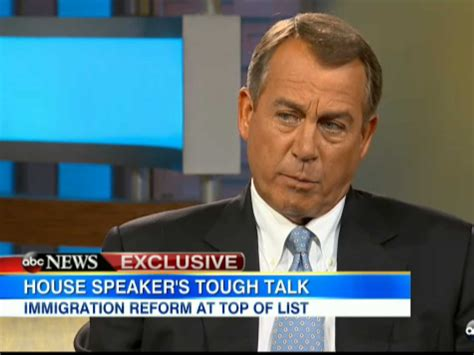 Boehner immigration interview marriage