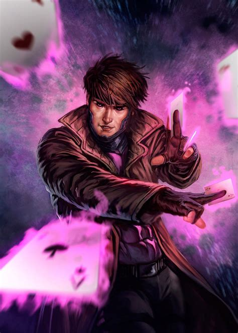 X Gambit gambit by dleoblack on deviantart
