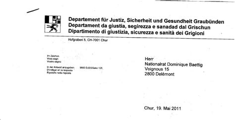 Brief Wohnungskündigung Schweiz Alles Schall Und Rauch Brief Des Kanton Graub 252 Nden Zu Bilderberg