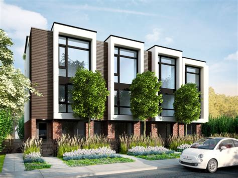 Multifamily Home Plans by Blanc Modern Townhomes Kitsilano Vancouver Bc 1891