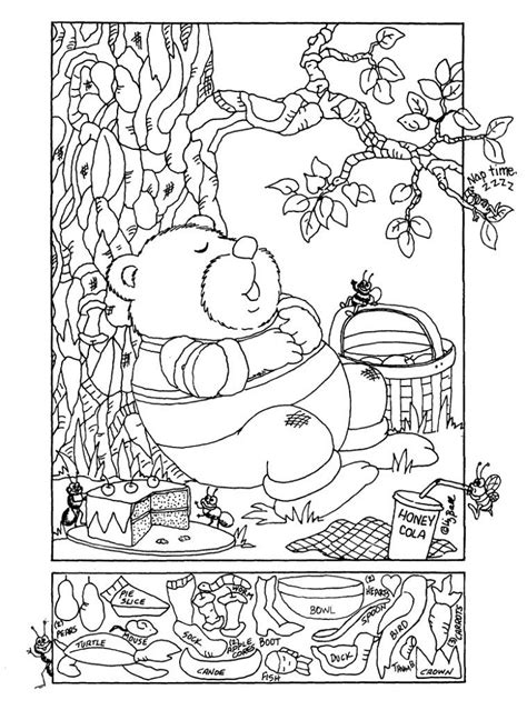 printable free pictures printable hidden pictures worksheets activity shelter