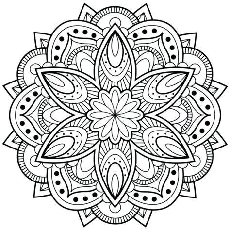 simple mandala coloring pages pdf mandala coloring pages printable mandala designs regarding