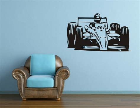 large racing car wall decor removable vinyl decal