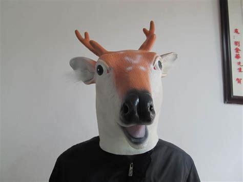 Creepy Deer Mask creepy deer doll mask costume theater
