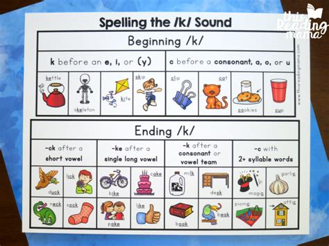 ck pattern words spelling the k sound with freebies this reading mama