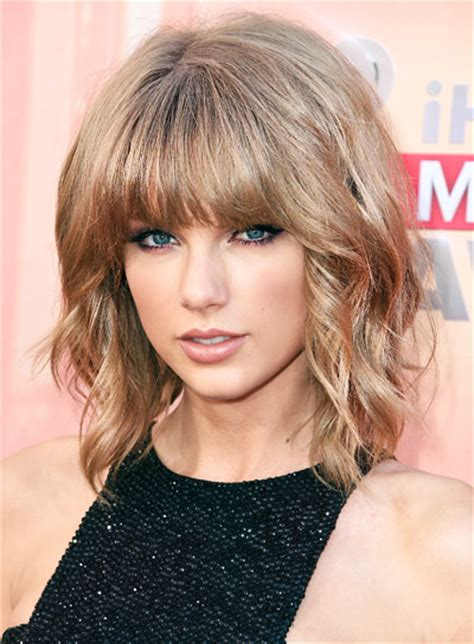 taylor swift wavy bob short blonde bobs beauty riot