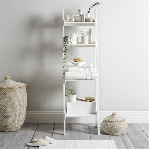 bathroom ladder shelves bathroom ladder shelf white goodglance