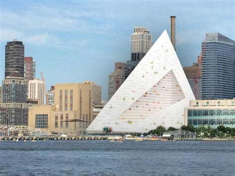 boat building nyc bjarke ingels hudson river pyramid growing on 57th street