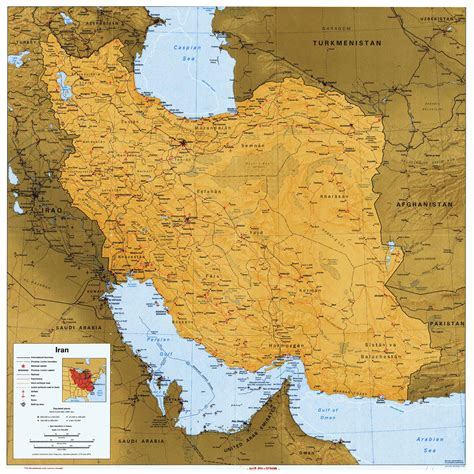 map of iran with cities large detailed political map of iran with all roads